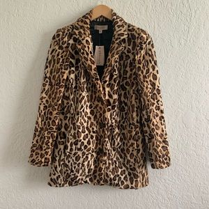 Philosophy Leopard Print Jacket NWT